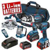 Bosch BAG+5RS Bosch 18v Li-ion 5 Piece Kit