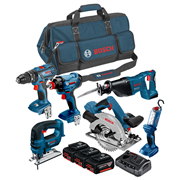 Bosch BAG6DS1 18v 6 Piece Kit with 3 x 4Ah Batteries, Charger and Bag