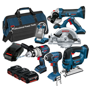 Bosch BAG6RS Bosch Robust Series 18v 6 Piece Kit