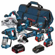 Bosch BAG7DS Bosch 18v Li-ion Dynamic Series 7 Piece Kit