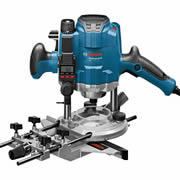 "Bosch GOF 1250 LCE Bosch Professional 1/4"" Router with Digital Depth Adjustment"