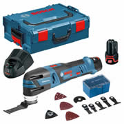 Bosch GOP 12V-28 12v Brushless Multi-Tool with 2 x 2Ah Batteries, Charger, Case and 12 Accessories