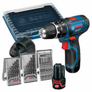 Bosch GSB1082LI Bosch 10.8v Lithium-ion Hammer Drill Driver with 39 Accessories