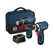 Bosch GSBGDR12 12v 2 Piece Kit with 2 x 2Ah Batteries, Charger, and Bag