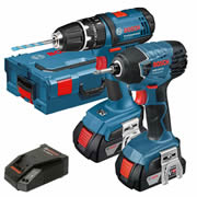 Bosch GSB GDR PLUS Bosch 18v Li-ion Cordless 2 Piece Kit