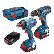Bosch GSBGDX4 18v Li-ion 2 Piece Kit - 2 x 4Ah Batteries