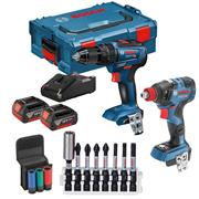 Bosch 0.601.9J2.270 Bosch 0.601.9J2.270 18V Brushless 2 Piece Kit with x 4ah Batteries Charger and Case