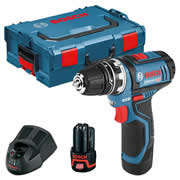 Bosch GSR 12V-15 12v Drill Driver with 2 x 2Ah Batteries, Charger and Case