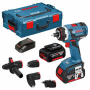 Bosch GSR 18 V-EC FC2 SET Bosch 18v Cordless Li-ion Brushless FlexiClick Multi-Head Kit