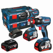 Bosch RGSBGDXVEC Bosch 18v Li-ion Brushless Twin Pack