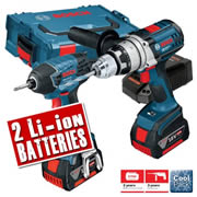 Bosch GSBGDRVLI Bosch 18v Robust Series Twin Pack