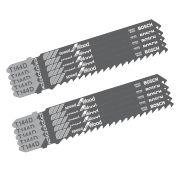 Bosch T144DPK2 Pack of 10 Bosch Jigsaw Blades (2x Pack of 5)