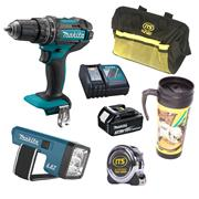 Makita  18V LXT Combi Drill Mega Value Box Bundle B