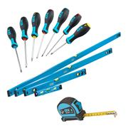 OX Tools  OX Trade Levels, Tape and Screwdriver Set Box Bundle