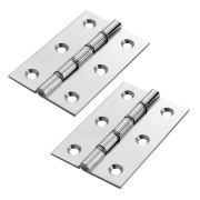 Carlisle Brass HDSW1CP Carlisle Brass Double Steel Washered Chrome Butt Hinge 76mm - Polished Chrome