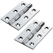 Carlisle Brass HDSW2CP Carlisle Brass Double Steel Washered Chrome Butt Hinge 102mm - Polished Chrome