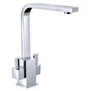 Cassellie KTA015 Dual Lever Square Mono Kitchen Sink Mixer Tap
