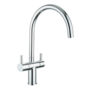 Cassellie KTA017 Dual Lever Mono Kitchen Sink Mixer Tap