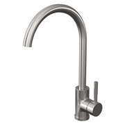 Cassellie KTA025 Single Lever Mono Kitchen Sink Mixer Tap - Brushed Stainless Steel