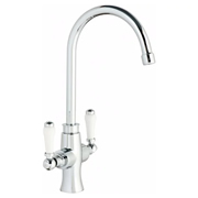 Cassellie KTAP4 Cassellie Traditional Dual Lever Kitchen Mixer Tap