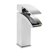 Cassellie PEK001 Peak Mono Basin Mixer Tap with Click-Clack Waste