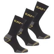 Caterpillar 142121114 Caterpillar Crew Work Socks 3 Pair Pack - Size 11-14