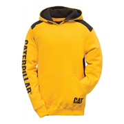 CAT 21783Y Logo Panel Hooded Sweatshirt Yellow