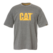 Caterpillar 25301GY Trademark Logo T-Shirt Grey