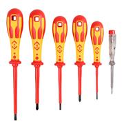 CK T49183 C.K Dextro VDE Screwdriver Slotted Parallel & PZD Set of 6