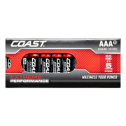 Coast EPAAA10PC Extreme Performance AAA 1.5v Alkaline Batteries - Pack of 10