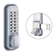 Codelock CL100 SG 100 Series Surface Deadbolt - Silver