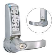 Codelock CL4010 SS 4000 Series Medium Duty Electronic Tubular Mortice Latch - Lever Handle