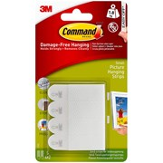 3M  3M Command Picture Hanging Strips, Small (Pack 4)