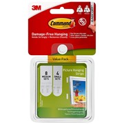 3M  3M Command Picture Hanging Strips Set, Small & Medium (Pack 12)