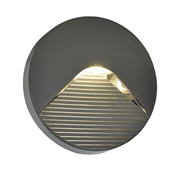 Coast CZ29193ATR Breez Round Slot Surface Mounted Outdoor LED Brick/Guide Light - Anthracite