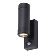 Coast CZ31744BLK Neso Outdoor Up/Down Wall Light With PIR - Black