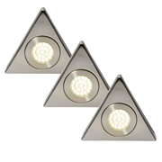 Culina CUL-21626PK3 Pack of 3 Laghetto LED Under Cabinet Lights - Triangle