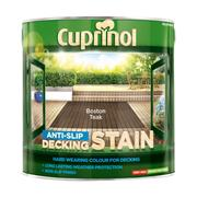 Cuprinol  Cuprinol Anti-Slip Decking Stain Boston Teak 2.5 Litre