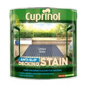 Cuprinol  Cuprinol Anti Slip Decking Stain Urban Slate 2.5 Litre