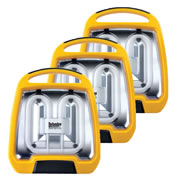 Defender E709155 Defender Industrial Fluorescent Floor Light 16A 110v - Pack of 3