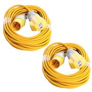 Defender  Defender 110V 14M 1.5mm 16A Yellow Loose Lead - Pack of 2
