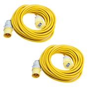 Defender  Defender 110V 14M 4mm 32A Yellow Loose Lead - Pack of 2
