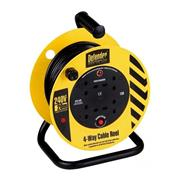 Defender  Defender 240V 20M Cable Reel 1.25mm 13A 4 Way