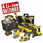 Dewalt DEWBXR7P Dewalt 18v Cordless 7 Piece Package