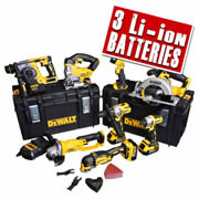 Dewalt BXR85AH Dewalt 18v Li-ion XR 8 Piece with Brushless Drills & Impact Driver Kit - 5.0Ah