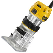 "Dewalt D26200 Dewalt Combination Router - Palm Grip Fixed Base 1/4"" Shank"