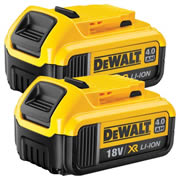 Dewalt DCB182PK2 Dewalt DCB182PK2 18V 4.0Ah XR Li-ion Slide-on Battery Twin Pack
