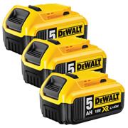 Dewalt DCB184PK3 18v 5.0Ah XR Li-ion Battery Pack of 3