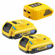 Dewalt DCB283BC Dewalt 18v 2 x 2.0Ah Bluetooth Batteries and USB Charger Kit