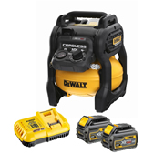 Dewalt DCC1054T2-GB 54V XR  FLEXVOLT Compressor with 2 x 6.0Ah Batteries